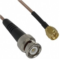 Cinch Connectors Male SMA to Male BNC RG-316 Coaxial Cable, 50 , 415