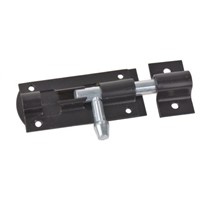 RS PRO Steel Black Epoxy Door Bolt