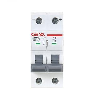 GYM9 6KA MCB GYM9-6KA-2P-1A-C Miniature Circuit Breaker by GEYA
