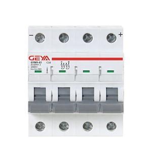 GYM9 6KA MCB GYM9-6KA-4P-1A-C Miniature Circuit Breaker by GEYA