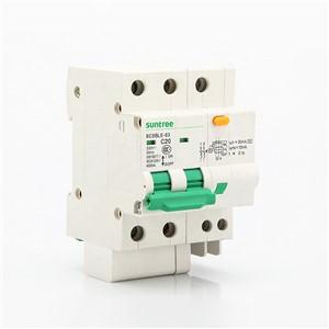 SCB8LE RCD RCBO RCCB Residual Current Circuit Breaker SCB8LE-63-2P-20A 30mA 6KA C Curve by Suntree