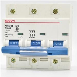 XMM65-100 3P MCB XMM65-100-C-3P-80A 10KA Breaking Capacity Type C