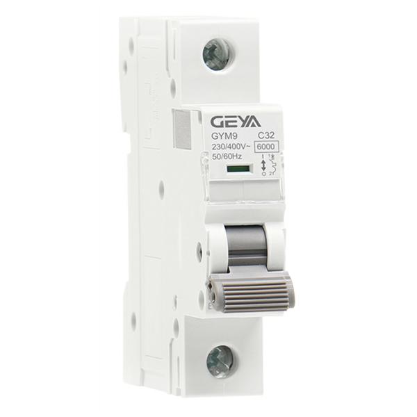 GYM9 6KA MCB GYM9-6KA-1P-1A-C Miniature Circuit Breaker by GEYA